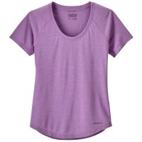 Patagonia SS Nine Trails Shirt Damen Funktionsshirt lila