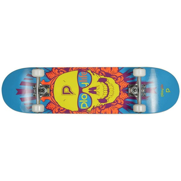 "Playlife Skullhead 31""x8"" Skateboard"