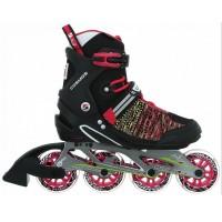 Stuf Cosmos Knitted Alu Damen Inline Skates schwarz