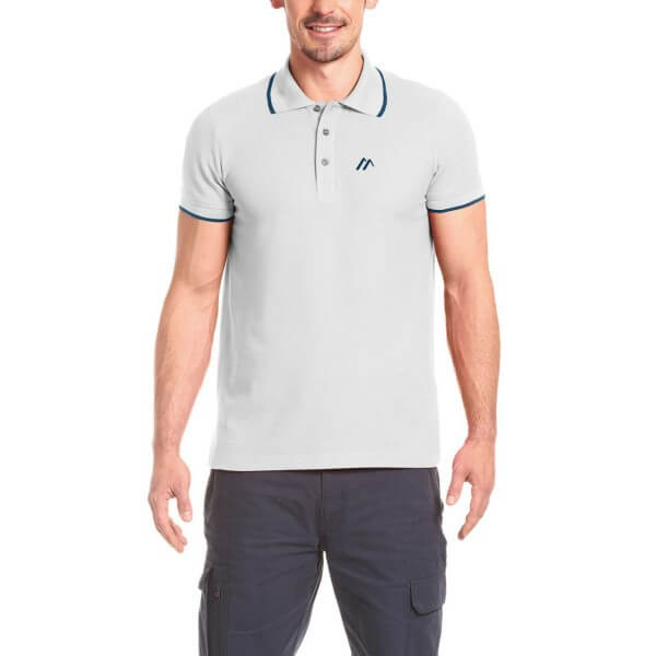 Maier Sports Comfort Polo-Shirt weiß