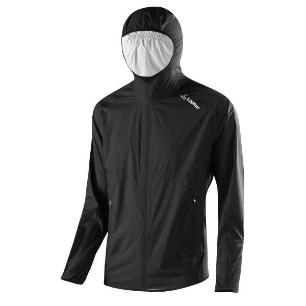 Löffler M Hooded Jacket WPM Pocket Funktionsjacke schwarz