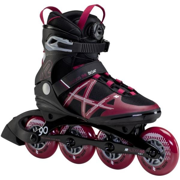K2 Alexis 90 BOA Inline Skates schwarz rot