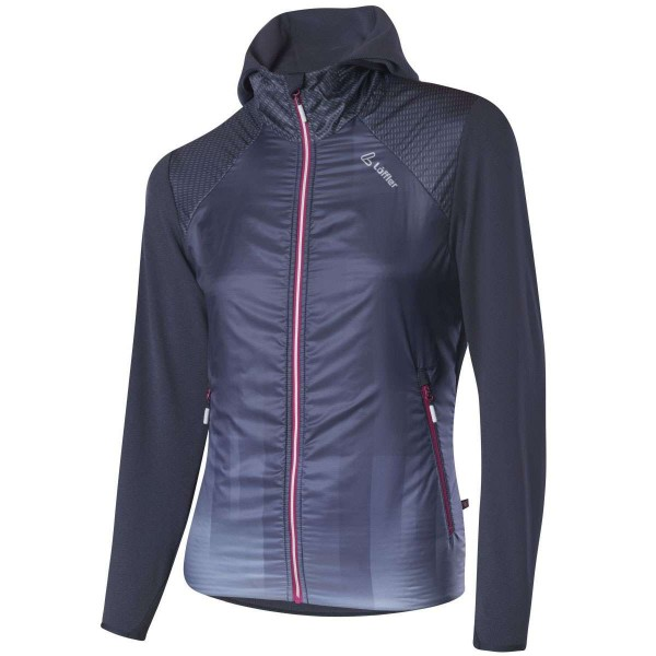 Löffler W Hooded Jacket Speed Primaloft Next Damen Funktionsjacke grau