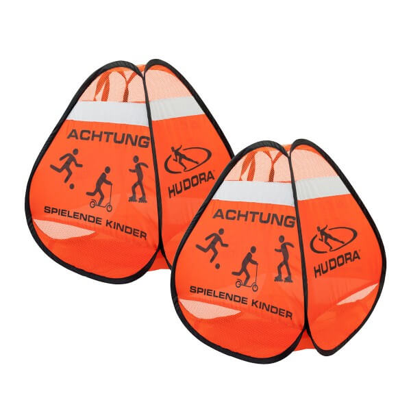 Hudora Safety Pop Up Set Straßenwarnschild Achtung spielende Kinder