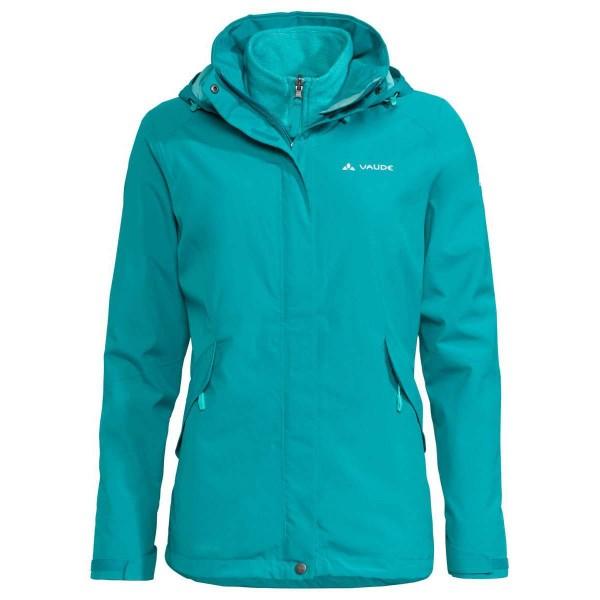 VAUDE Womens Rosemoor 3in1 Jacket Damen Doppeljacke grün