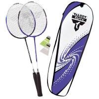 Talbot Torro Badminton 2 Fighter Set mit Bälle und Tasche
