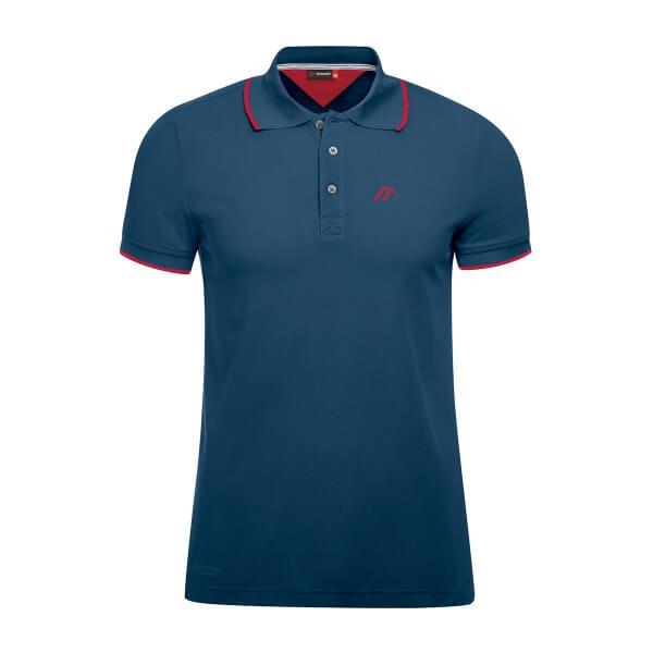 Maier Sports Comfort Polo Shirt aviator blau rot