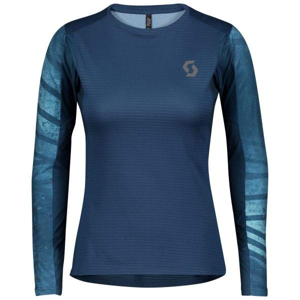 Scott Trail Run L/SL Shirt Damen Laufshirt blau