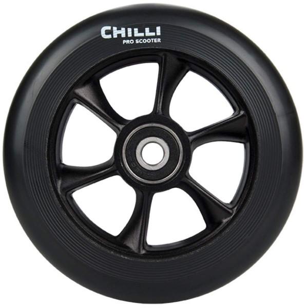 Chilli Wheel Turbo 110mm black PU Core Scooter Reifen