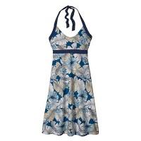 Patagonia Iliana Halter Dress Damen Neckholder Kleid blau