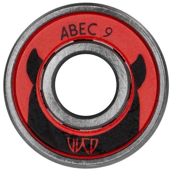 Wicked ABEC 9 Freespin Kugellager für Inline Skates 12 Stück