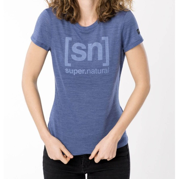 Super.Natural Essential I.D. Tee Damen Merino Funktionsshirt blau