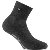 Rohner Fibre light quarter Wandersocken schwarz