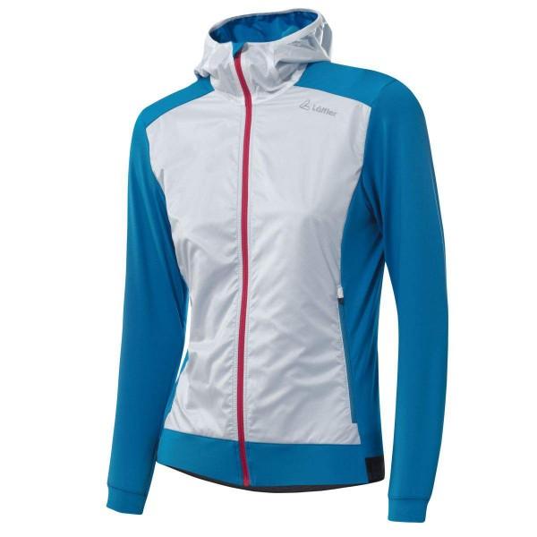 Löffler Hooded Light Hybrid Jacket Damen Funktionsjacke blau