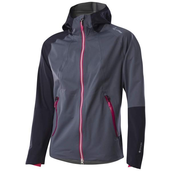 Löffler W Hooded Jacket Pace GTX Active Damen Funktionsjacke grau