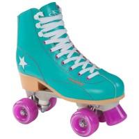Hudora Roller Disco Damen Rollschuhe Quads grün lila
