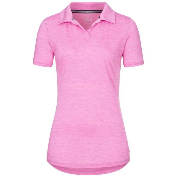 Super.Natural Everyday Polo Damen Merino Funtionsshirt pink
