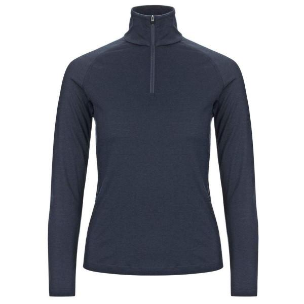 Super.Natural W Base 1/4 Zip 175 Merino Damen Funktionsshirt blau