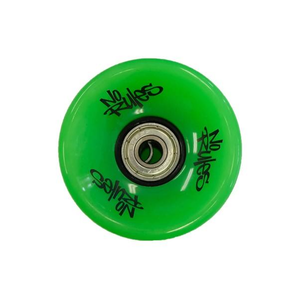 No Rules Longboard Rollen Set 4 Stück 62mm grün