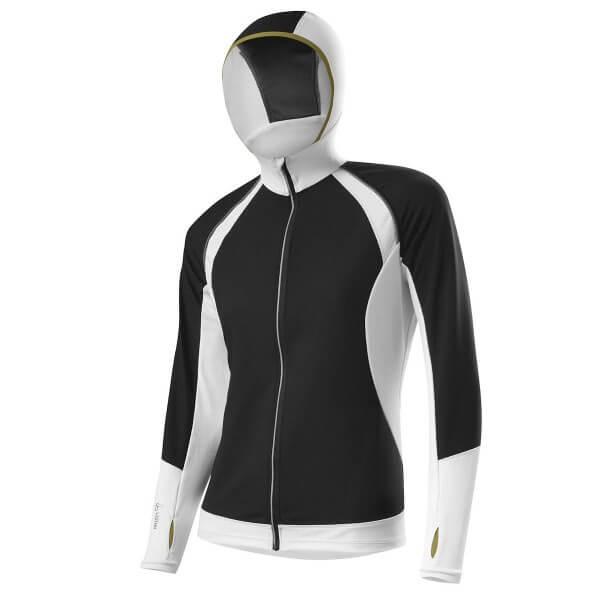 Löffler Damen Running Hoody WS Superlite FZ Funktionsjacke schwarz weiß