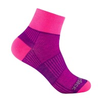 wrightsock Coolmesh II quarter pink