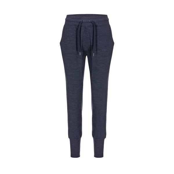Super.Natural Essential Cuffed Pants Damen Merino Jogginghose blau