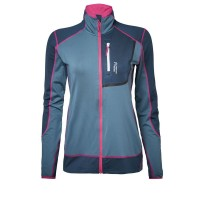 North Bend Nevis Zip Shirt Damen Fleecejacke blau
