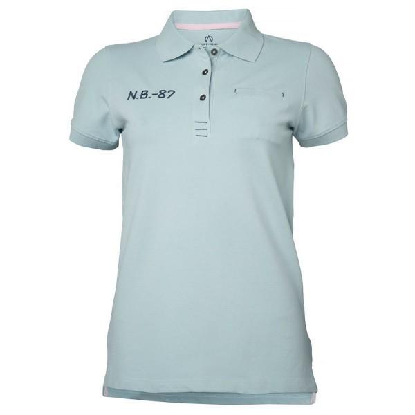 North Bend Carly Pique Damen Polo Shirt hellblau