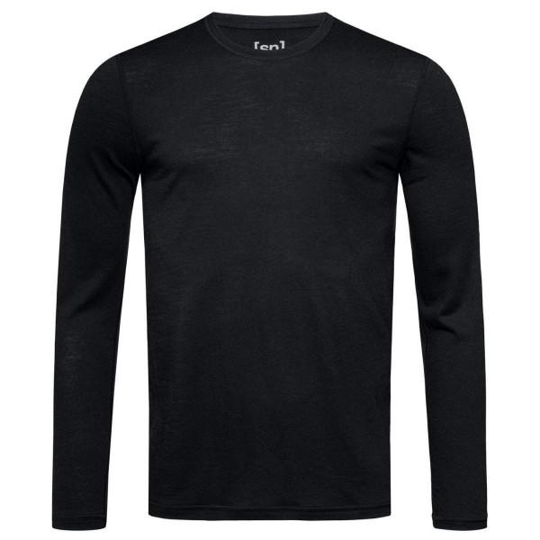 Super.Natural M Base LS 140 Merino Langarmshirt Funktionsshirt schwarz