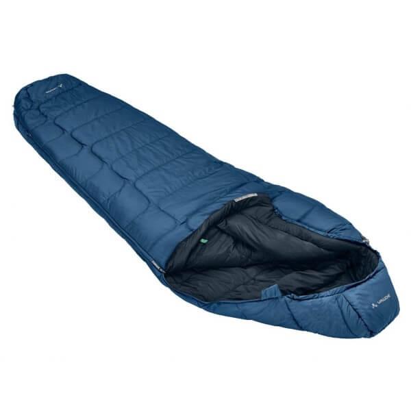 Vaude Sioux 400 SYN Schlafsack blau Reißverschluss links