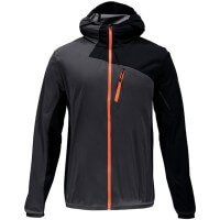 Spyder Thasos Windbreaker Shell Jacket Funktionsjacke grau orange
