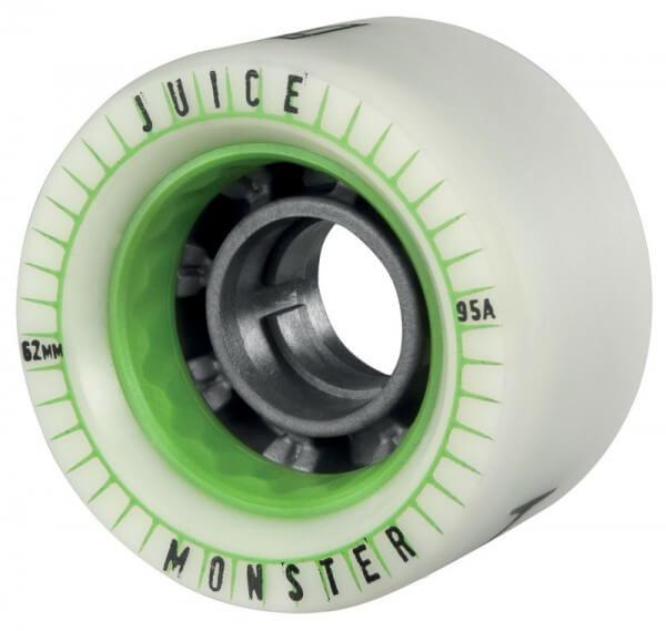 Juice Spiked Series Monster Longboards Rollen Set 4 Stück 62mm grün