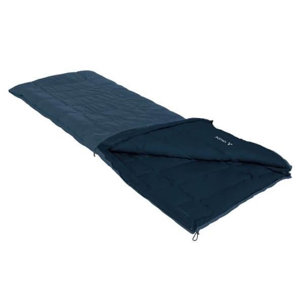 Vaude Navajo 500 SYN Schlafsack blau Reißverschluss links