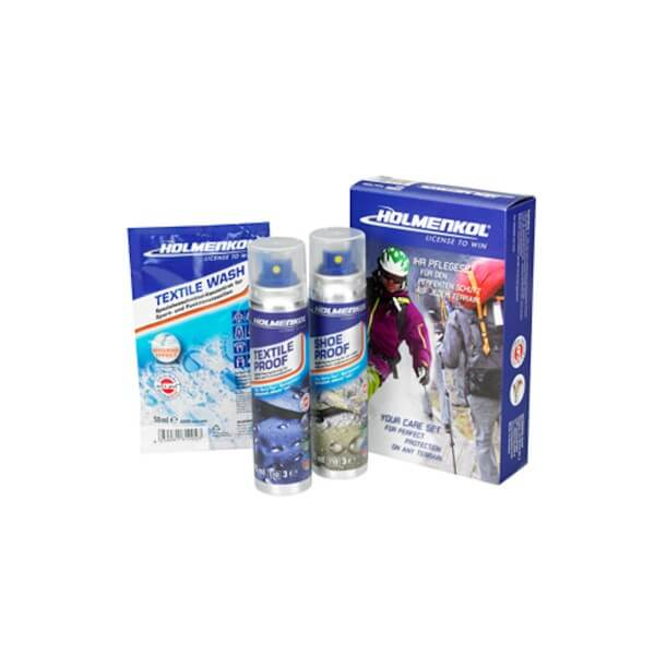 Holmenkol Care Travel Set Waschmittel Imprägnierungs Set