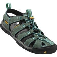 Keen Clearwater CNX Leather Damen Sandalen grün