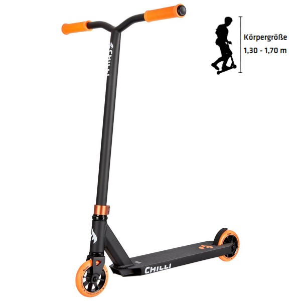 Chilli Base Stuntscooter schwarz orange