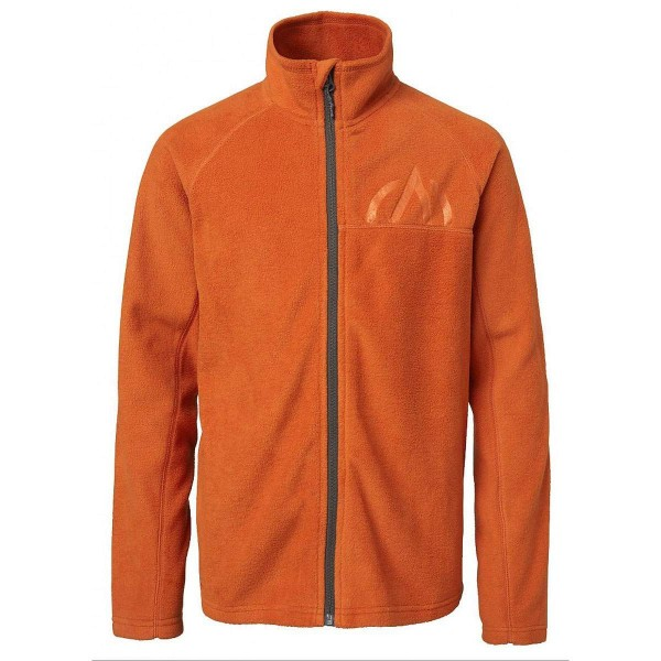 North Bend SUB Microfleece Kinder Fleecejacke orange