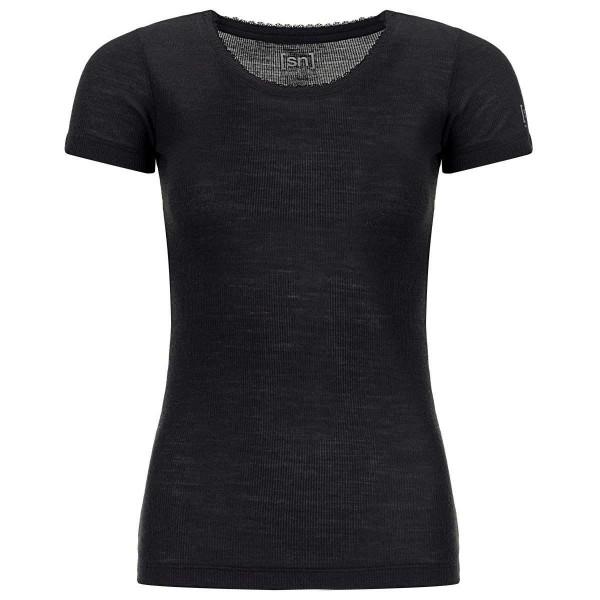 Super.Natural Scarlett RIB SS Damen Merino Unterhemd schwarz