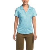 Maier Sports Lleyn Damen Bluse blau