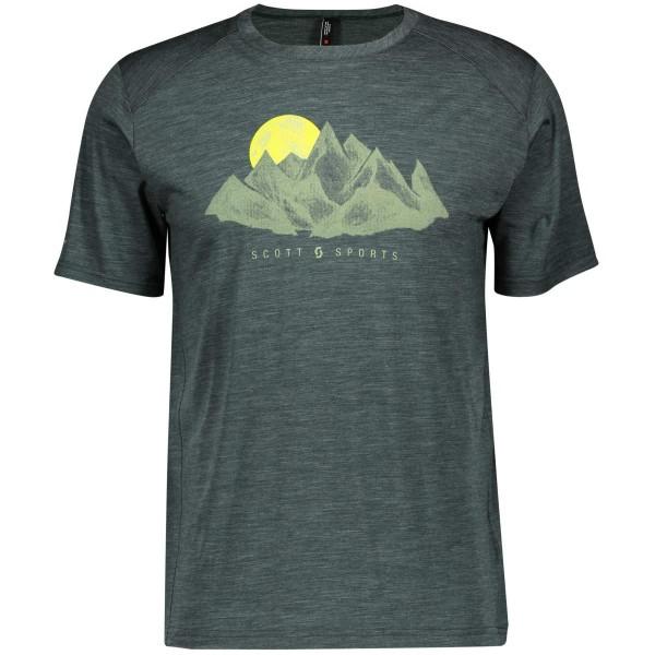 Scott Defined Merino Graphic S/SL Shirt T-Shirt grün