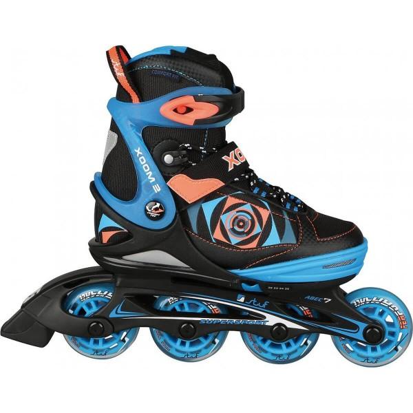 Stuf Xoom 2 Boy Kinder Inline Skates schwarz blau-orange