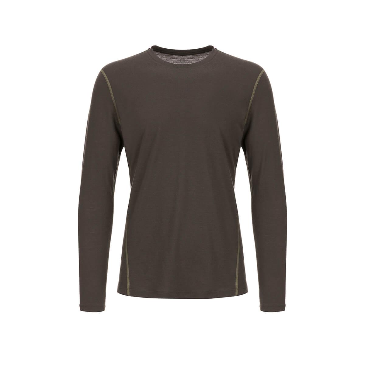Mit Merinowolle super.natural Herren Langarm-Shirt M BASE LS 175