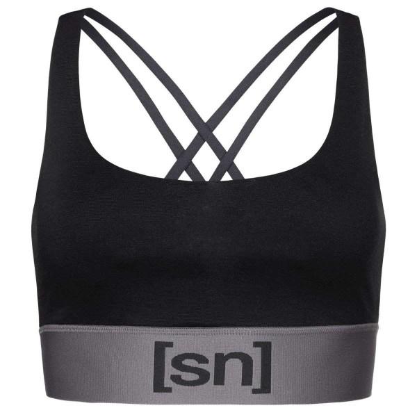 Super.Natural Motion Top Damen Merino Sport-BH schwarz