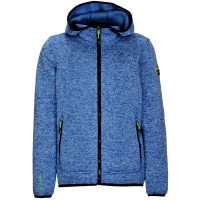 Killtec Eik JR Kinder Strick Fleecejacke blau