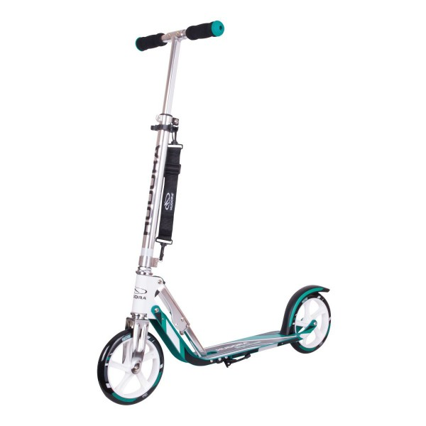 Hudora Big Wheel 205 Scooter turquoise weiß