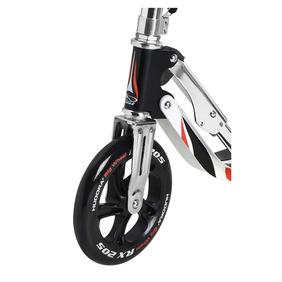 hudora roller big wheel rx 205 scooter schwarz silber rot ebay. Black Bedroom Furniture Sets. Home Design Ideas