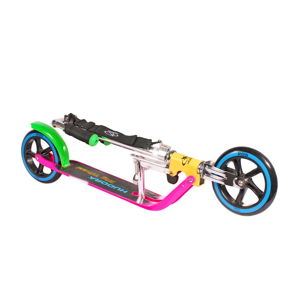 hudora big wheel 205 neon roller scooter pink gelb gr n blau ebay. Black Bedroom Furniture Sets. Home Design Ideas