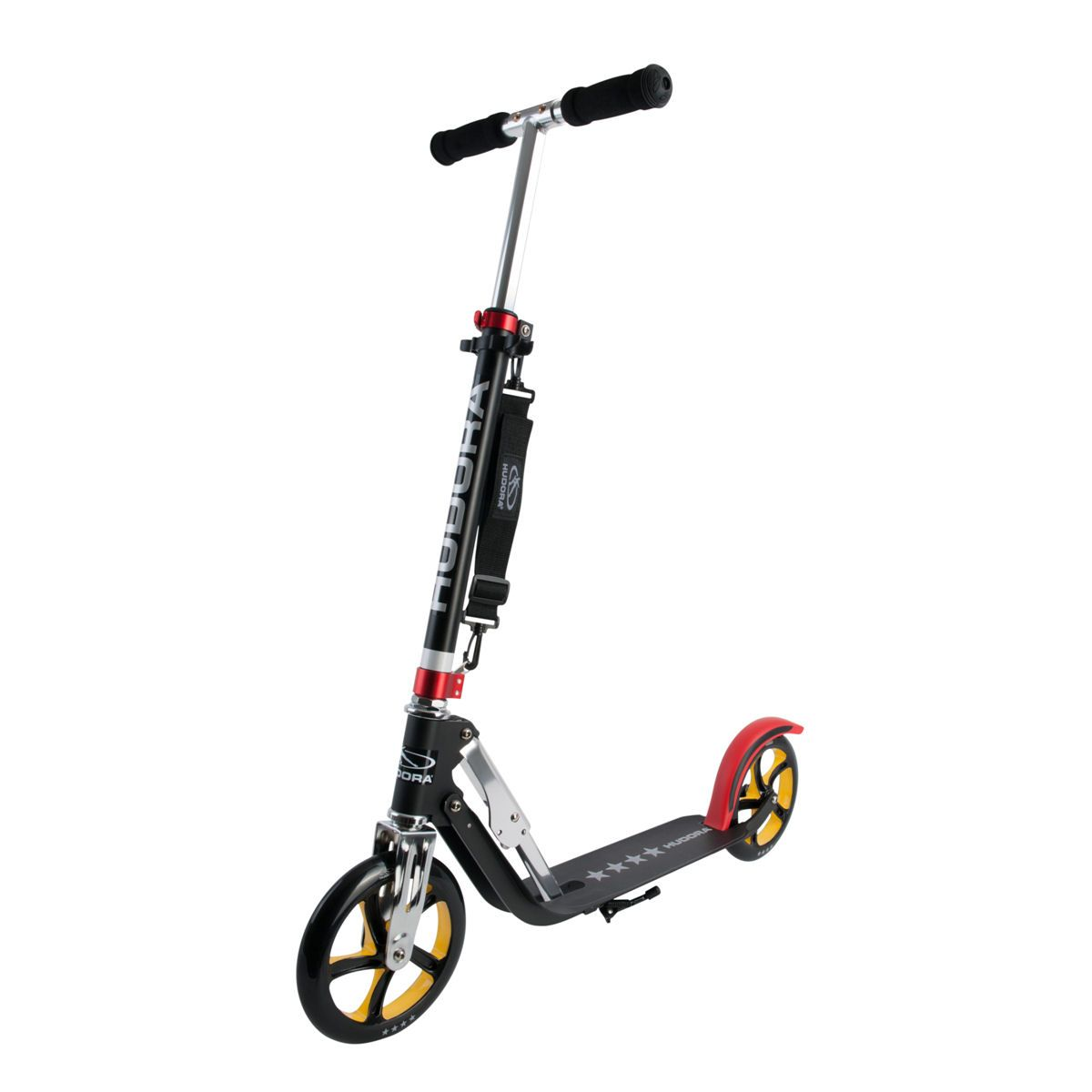 hudora big wheel 205 roller rx pro 205 scooter schwarz rot gold ebay. Black Bedroom Furniture Sets. Home Design Ideas