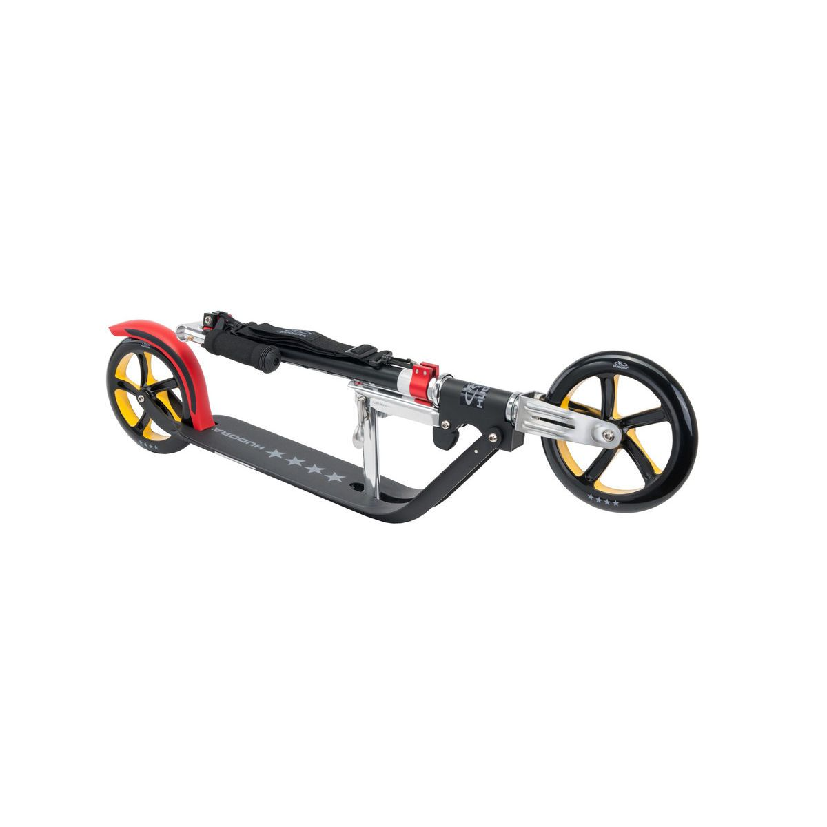 hudora big wheel 205 roller rx pro 205 em scooter schwarz rot gold ebay. Black Bedroom Furniture Sets. Home Design Ideas