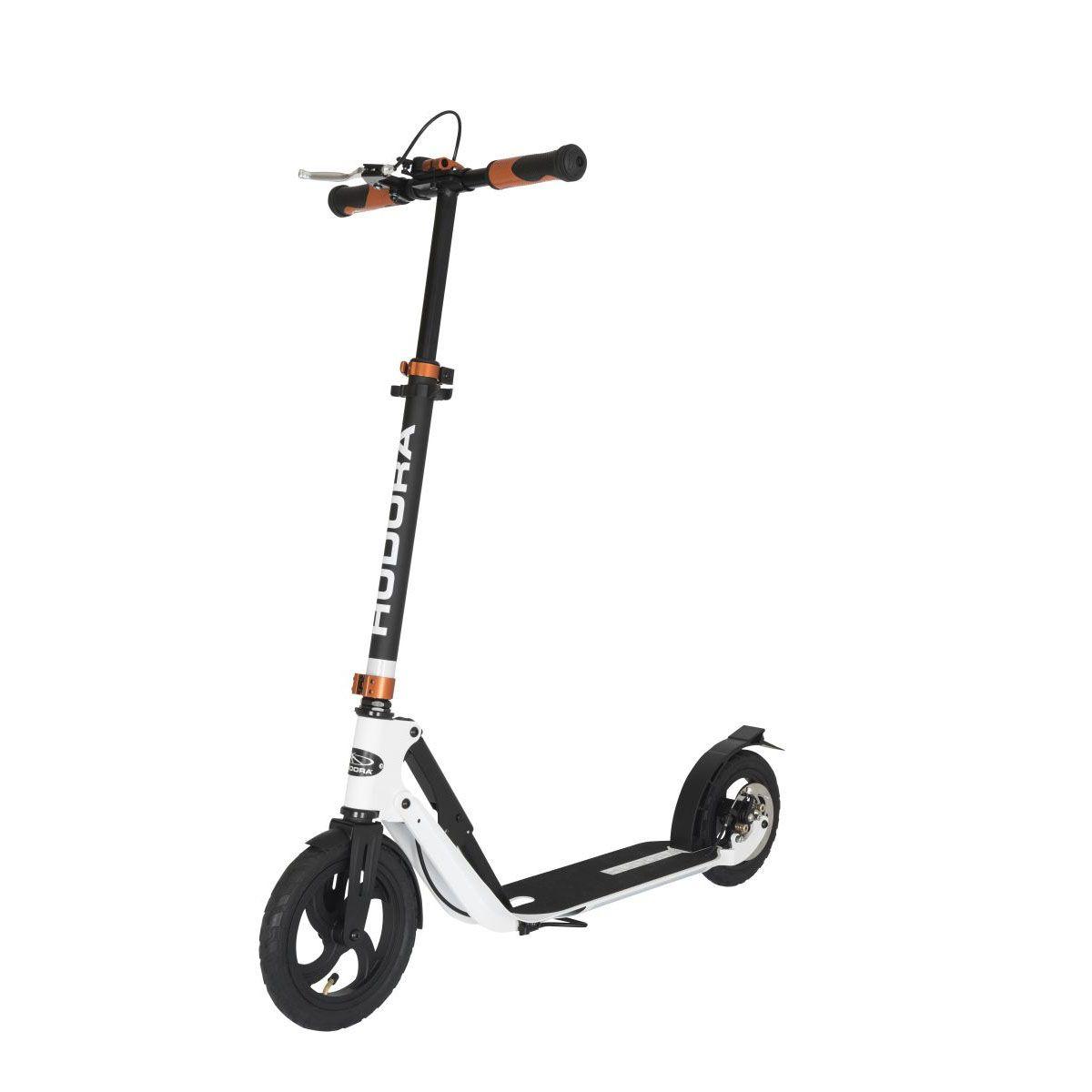 hudora big wheel air 230 roller scooter dual brake ebay. Black Bedroom Furniture Sets. Home Design Ideas